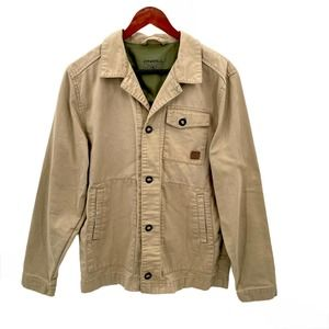 O'Neill Tan Military Style Button Down Jacket M